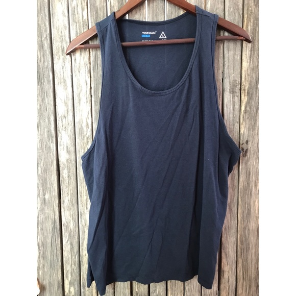 eb6e13522de23 TOPMAN Blue Slim Fit Muscle Tank Top. M 5aa7fe5dc9fcdf300eca8ede
